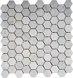 Мозаика  MN152HXB 32x32 hexagon/300х300 (11pcs) - 0.99